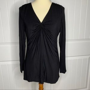 WHBM Classic Black top size small